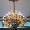 22 - chandilier with english rose, irish shamrock, scotish thistle