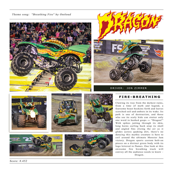 Dragon at Monster Jam World Finals XIX
