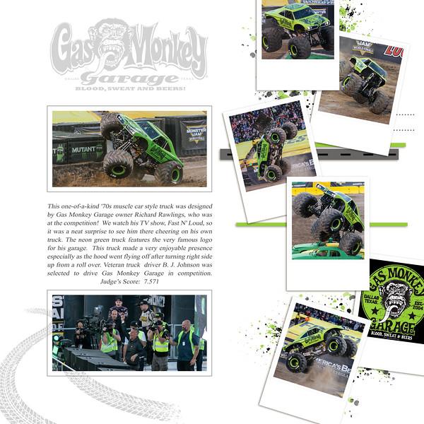 Gas Monkey Garage at Monster Jam World Finals XIX