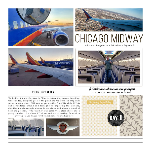 Vacation, flight from Albany to Las Vegas, layover at Chicago Midway