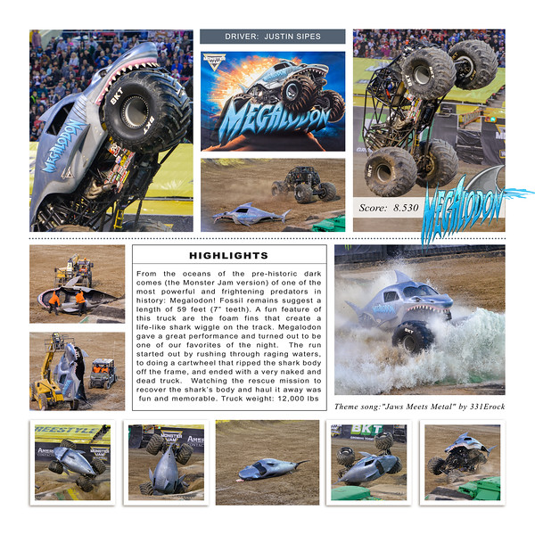 Megalodon at Monster Jam World Finals XIX