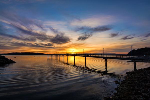 Des Moines Marina At Sunset