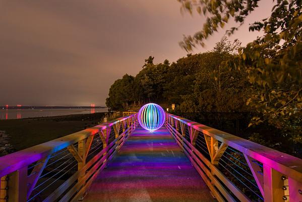 Light Orb On The Rainbow Bridge (8/13/15)