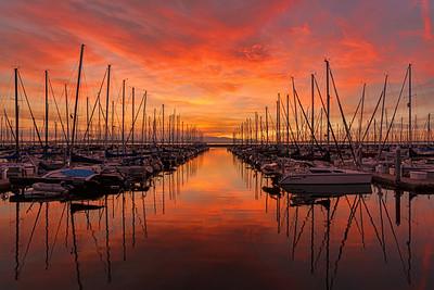 Shilshole Bay Marina  Sunset
