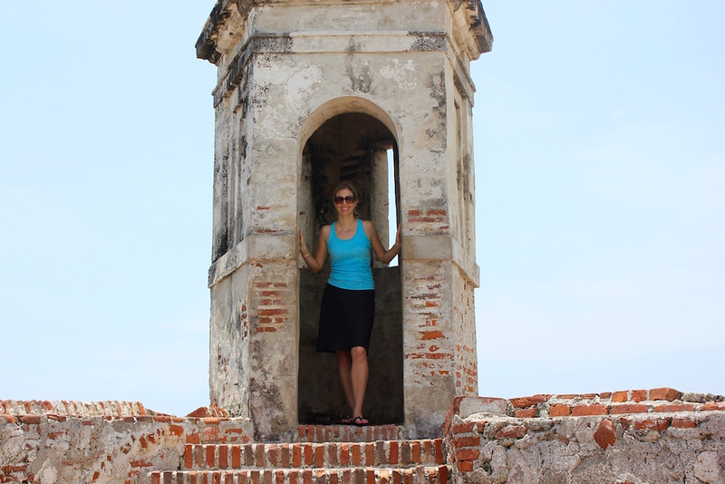 Brianne Miers at the Castillo San Felipe de Barajas in Cartagena, Colombia