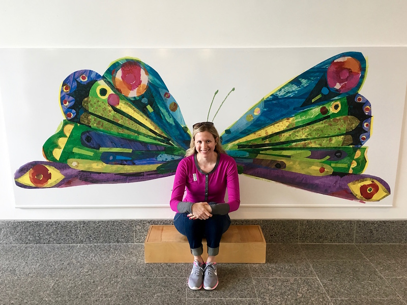 Brianne Miers at the Eric Carle Museum in Amherst, Massachusetts