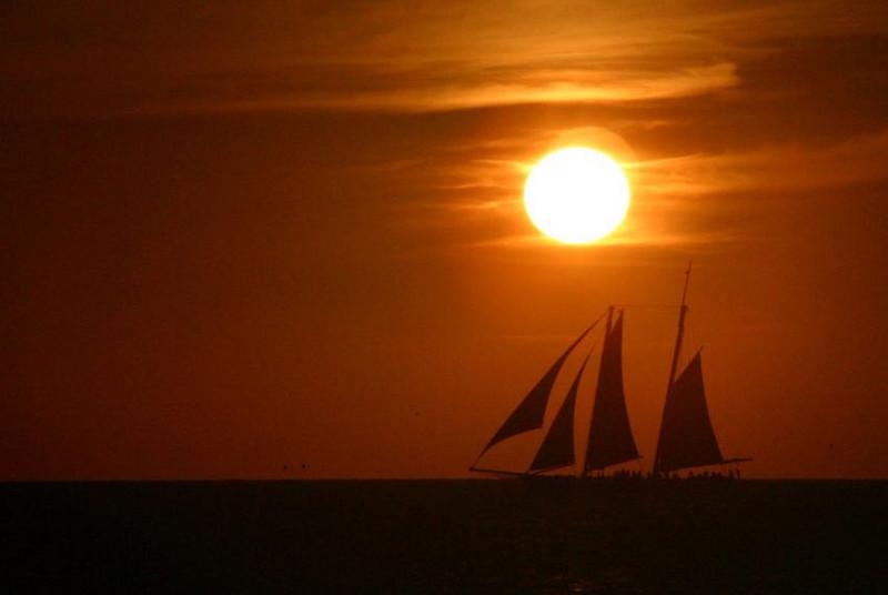 Sun Set during Key West Race Week, 2005.