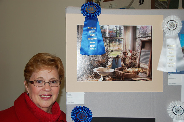 The Winner - My wife, Lucille won the Blue Ribbon at the Chelmsford Winterfest for  her photograph.