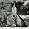 Trinity Church  - Built 1642 on Smith's Creek, Saint Mary's County. <br /> Moved to lot near present rectory, St. Mary's Parish, St. Mary's City, Maryland<br /> - Infrared Photo -