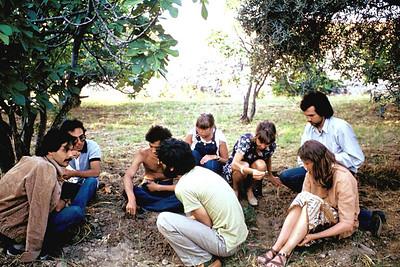 Saim Uğursay ve Isvecliler ile ilk tanisma, Pamukkale,  1978,