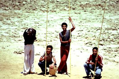 Balıkçı çocuklar, Marakesh, Fas,