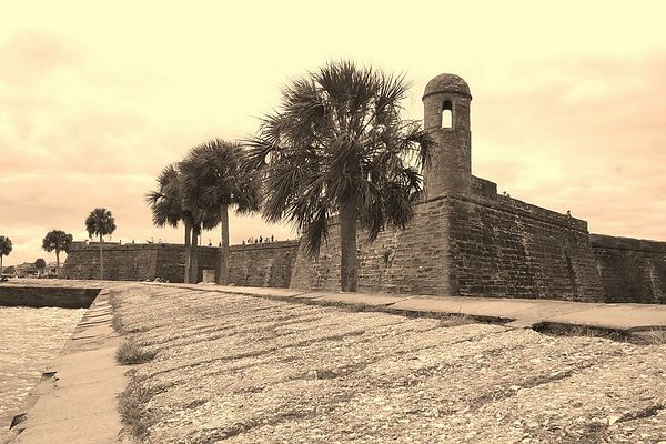 Castillo de San Marco in St. Augustine - slightly different composition - these were taken by walking to the other side of the fort and shooting from the sea wall - most views are from the front, so these are a bit different.