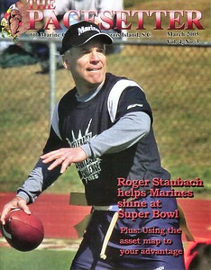 Cover of the March, 2005 Marine Corp 6th District Pacesetter Magazine.