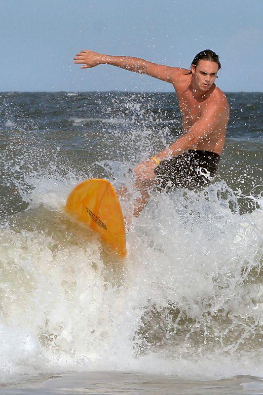 Surfing at Jacksonville Beach