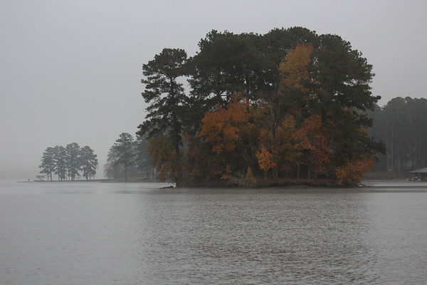 Foggy Fall Morning at Lake Sinclair, GA