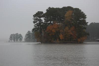 Foggy Fall Morning at Lake Sinclair, GA