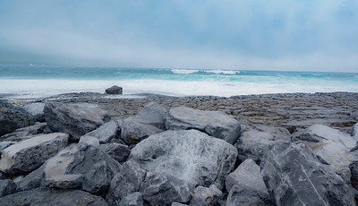 Rocky beach Doolin Pier