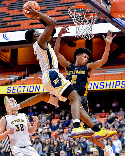 West Genesee vs Utica-Notre Dame - Section III Class AA Finals - Boys Basketball - March 3, 2019