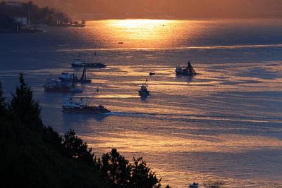 Büyükdere Istanbul Bay Fishing Boats