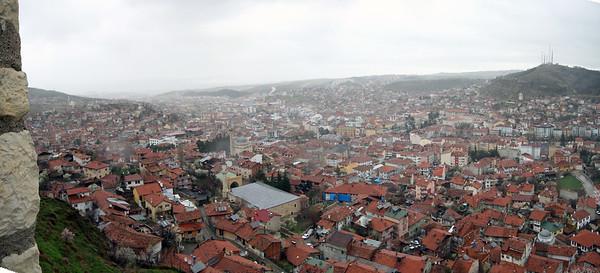 Kastamonu kalesinden panaromik Kastamonu şehri görüntüsü.