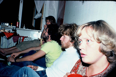 Room party in Lillhagen, Göteborg, 1977