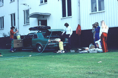 Preparing the car for Austria trip. Lillhagen,Göteborg, 1977