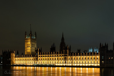 British Parliament Building at Night
