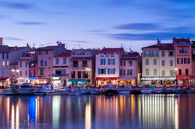 Cassis Harbour at dusk