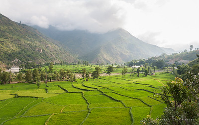 Driving along Sun Kosi valley