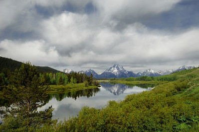 Oxbow Bend,The sky was so beautiful, I was hoping it would come out good