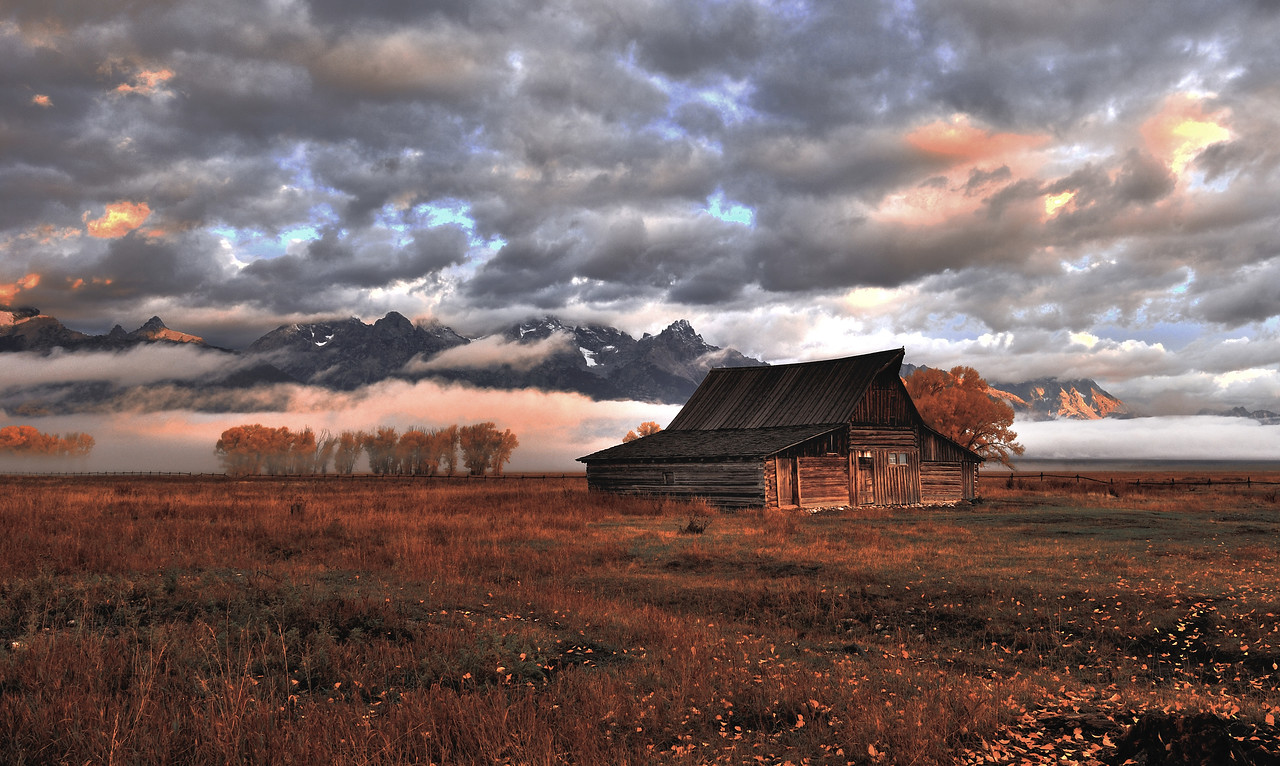 The Grand Teton National Park, Wy Mormon Row <br />  Photo # 55