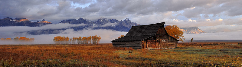 The Grand Teton National Park, Wy (Mormon Row)     THANK YOU When i got hear to shoot this barn there was about 15 to 20 photographers,  it was still dark and the weather was bad,when i took this they all left because there was no sunrise, I wanted to wait and see and i am glad i did, So what i learned was to be Patient, wait and enjoy life, You never know what you might see Photo # 76