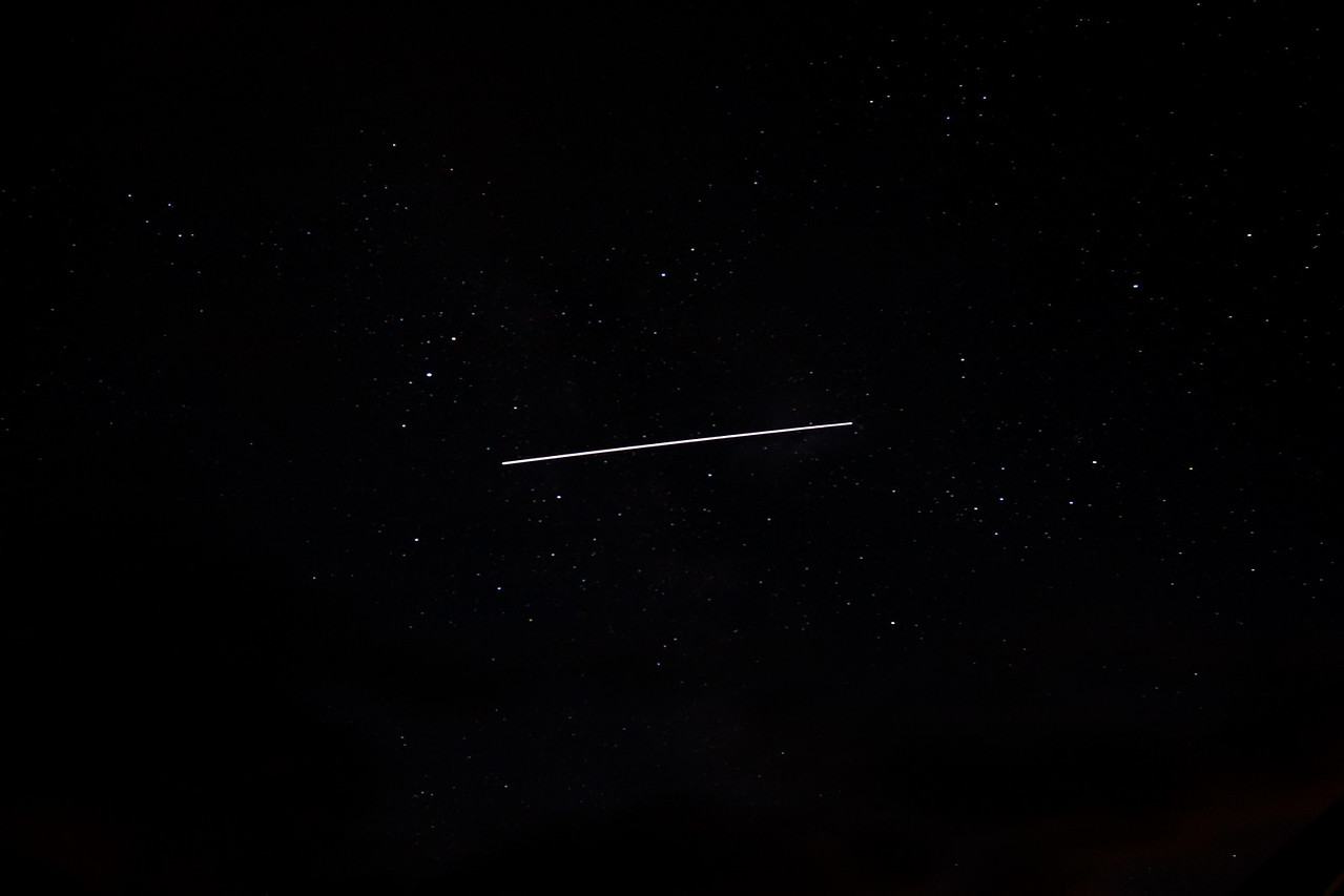 25 sec exposure of the ISS going across the sky at Kielder 12/08/13
