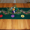 "2012 - Bargello table runner<br /> 86"" x 18.5"""