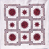 "2011 - Front Range Compass<br /> 78"" x 78""<br /> Quilted by Dianne Herrold<br /> Donated to Piecing Partners Quilt Guild 2012 Silent Auction"