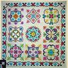 """In progress - Talavera Tiles<br /> 72"""" x 72""""<br /> Designer's photo"""