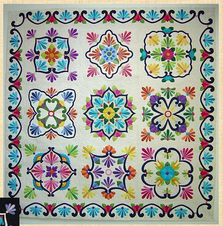 "In progress - Talavera Tiles<br /> 72"" x 72""<br /> Designer's photo"