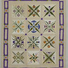 """2013 - Floral Reflections<br /> 59"""" x 72""""<br /> Begun about 2000; top hung on wall from 2004; finished in CA. Hand appliqued, machine quilted."""