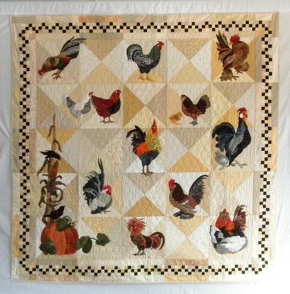 "2011 - Front Range Chickens<br /> 78"" x 78"""