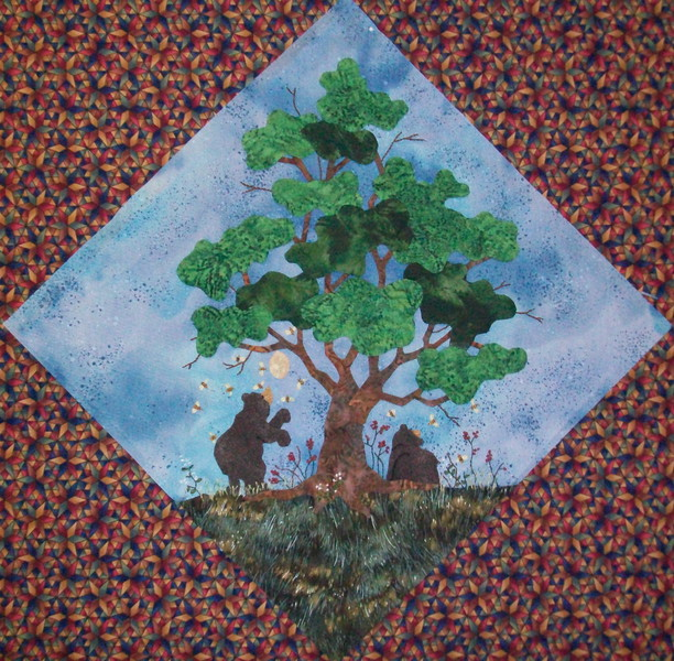 In progress - Tree Quilt<br /> Bears Bees & Oak 08/2010