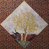 "In progress - Tree Quilt <br /> Aspens and geese 14 1/2"" block"