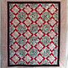 """2011 - Mystery Quilt 1<br /> 66"""" x 74""""<br /> Donated to Piecing Partners Chaffe program for graduating foster children"""