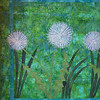 "2010 - Multiplying Like Dandelions<br /> 18""x 24""<br /> Piecing Partners Whisper Quilt Challenge"