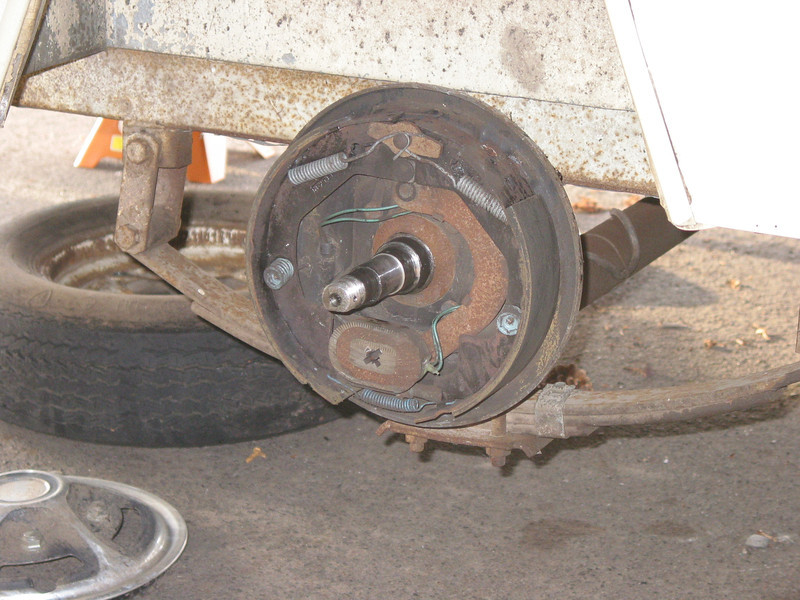 Right side brake assembly.