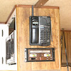 Installed a cordless phone to cover the old clock hole and hard wired it to a cell phone dock, so once I plug in the cell phone this becomes an extension of the cell.