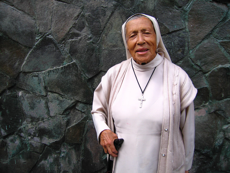 This beautiful old women is named Isabell.  I met her in Quito and ended walking with her though the city for some time.  She was 84 years old and claimed to be the oldest nun in Quito.  She lived in a catholic convent and was a very impressive person.  Her eyes, smile, and character seemed so youthful despite her old age.  She was a very beautiful person and quite the pleasure to meet.