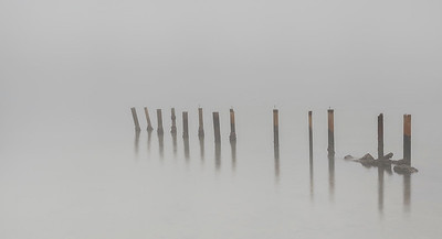 C 105 Pylons in the Fog