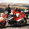 Me and the Guzzi at Rockey Mtn National Park, Colorado