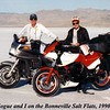 Ward Hogue and I at the Salt Flats.