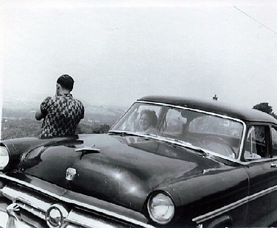My 54 Ford on Gobbler's Knob, Huntington.